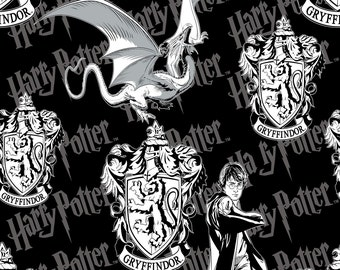 1 Yard Harry Potter Fabric /  Fabric By The Yard