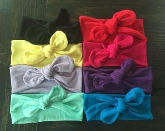 Baby Girl Headbands, Knot Headbands, Turban Headbands, Baby Headwraps, Baby Turban, Girls Headwraps, Top Knot Headband