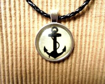 Leather necklace, Maritim (1166)