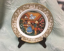 Franklin Porcelain Plate Collection Grimm's Fairy Tales Hansel and Gretel 1978, made in Bavaria, Hansel & Gretel