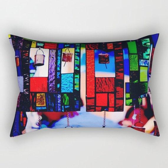 Blue Rectangle Throw Pillow : Blue Rectangle Pillow Blue Pillow Rectangular Pillow with