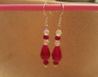Pretty Handmade Crystal bead earrings