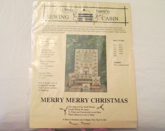 Merry Merry Christmas Sampler by Marry Garrys Sewing Cabin