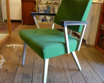Industrial Chair Modern 1970s Green Maker GOOD FORM VG Condition Retro Green Cord Fabric