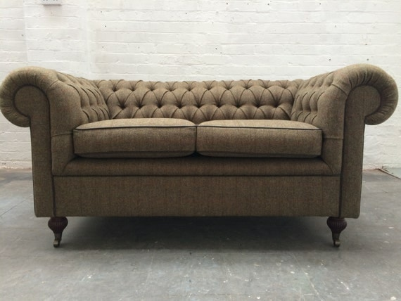 Items similar to Harris Tweed Chesterfield Sofa on Etsy