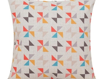 Geometric Windmill Pillow Cover