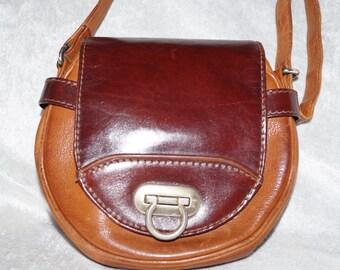 1980's Picard Crossbody-Bag Real Leather Saddlebag