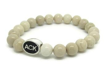 Nantucket, ACK, Nantucket Jewelry, Nantucket Bracelet, Nantucket Gifts, Nantucket Bead, Nantucket Charm, Nantucket Style, White Riverstone