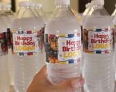Paw Patrol Printable Water Bottle Labels