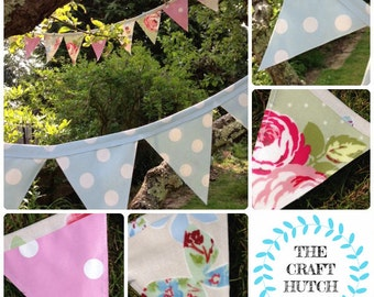 Outdoor bunting, Garden bunting, oilcloth bunting, waterproof bunting, tea party, garden party, garden flags, outdoor flags, garland