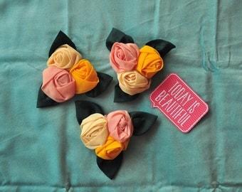 3 Colours Fabric Tulips Ornament