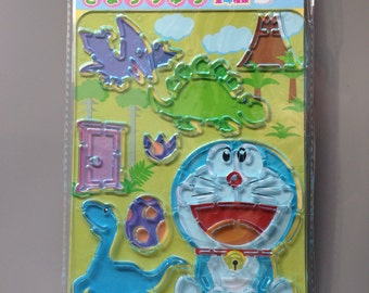 Plastic Template Stencil with Doraemon and dinosaurs
