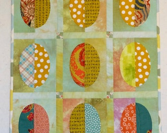Summer Fruit - Ovals - Art Quilt/Table Topper