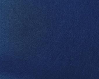 Navy Blue Felt Fabric - by the yard