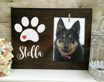Dog Picture Frame. Personalized pet frame. Personalized Dog Accessories.  Pet home decor.