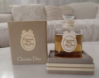 Authentic Vintage France Christian Dior Miss Dior Perfume Bottle In Original Box Gorgeous