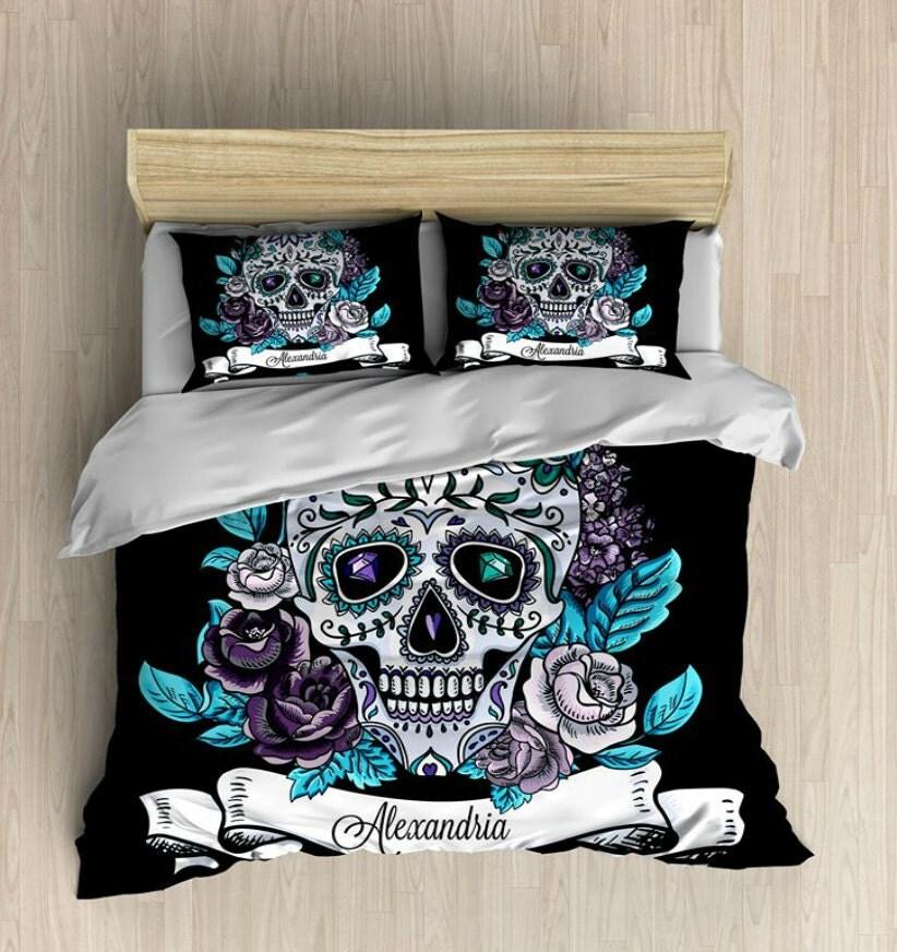 Skull Bedding Personalized Sugar Skulls Bedding By
