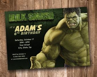 Hulk Smash Invitation *Personalized Digital Printable*