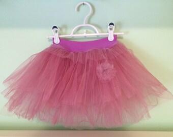 Dusty rose tutu, little girl tutu, wedding tutu, girl skirt, birthday skirt