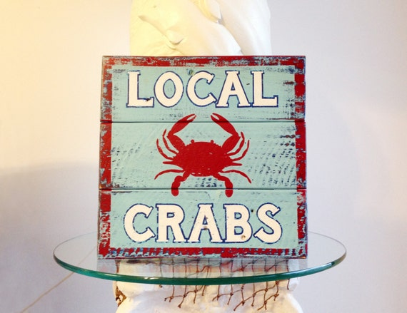 Local crabs on reclaimed pallet wood by islandtimedesignz for Local reclaimed wood