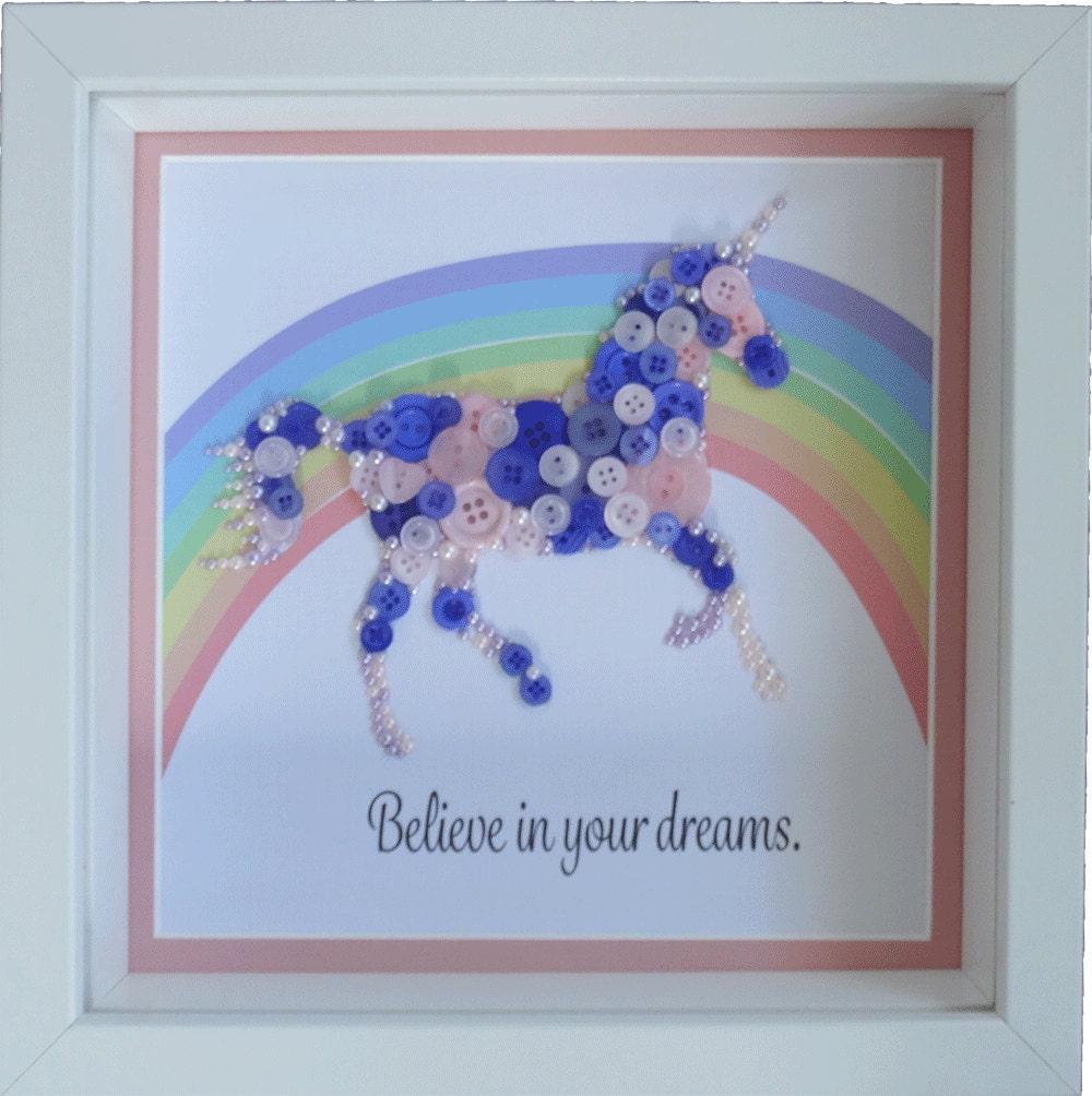 Unicorn gift believe in your dreams unicorn print for Unicorn bedroom decor