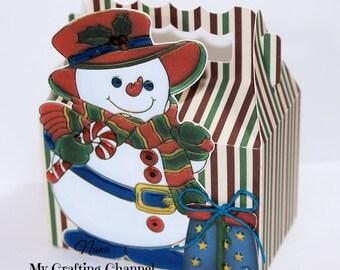 Snowman Christmas Treat Boxes-Treat Box Sets-Treat Boxes-Christmas Favor Boxes-Classroom Party Boxes-Gift Boxes-Snowman