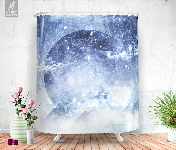 Even Mountains Get Cold Shower Curtain Bathroom Decor