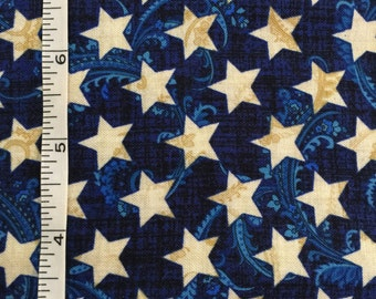 Patriotic Primer by Henry Glass Blue with White Stars