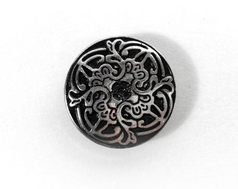 25mm Decoration button cap with 15mm snap button (201)