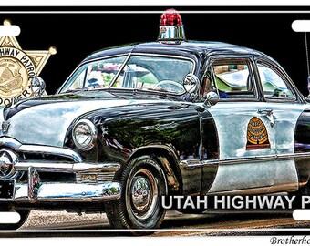 Classic Utah Highway Patrol License Plate
