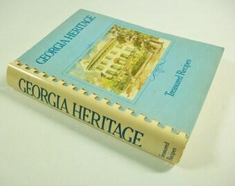 Georgia Heritage Cookbook, Treasured Recipes, Vintage Regional Cookbook, Georgia Recipes, Vintage Cookbook