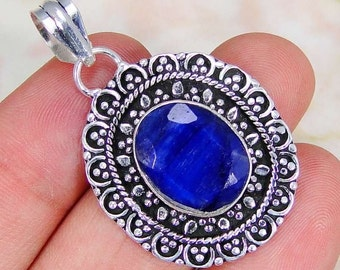Pendant 925 sterling silver Sapphire