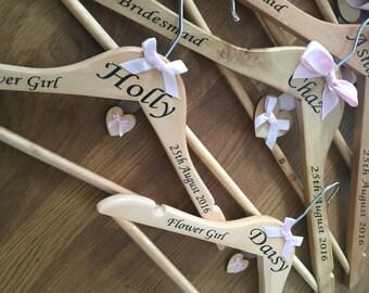 Personalised wedding/bridesmaid hangers