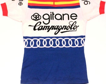 70's vintage Gitane Campagnolo cycle jersey made in France