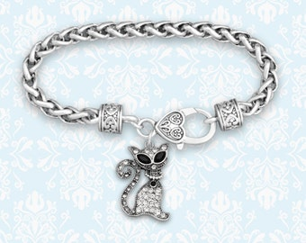 Sassy Cat Decorative Clasp Bracelet - 51274