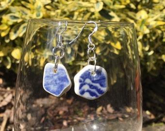 Beautiful, hand made,Scottish Sea Glass earings  E 26.8.16.4
