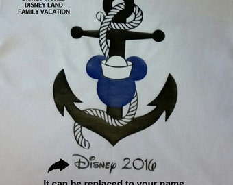 Disney Cruise Shirts Anchor and a rope, Disney family shirts, Disney family trip, Disney family vacation, Personalized shirts