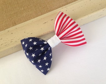 4th of July Hair Bow - Stars and Stripes - Patriotic Hair Bow - Red White and Blue - Hair Bow - Fourth of July - 4th of July - Patriotic