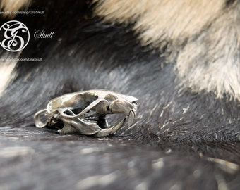 Silver Rat skull pendant