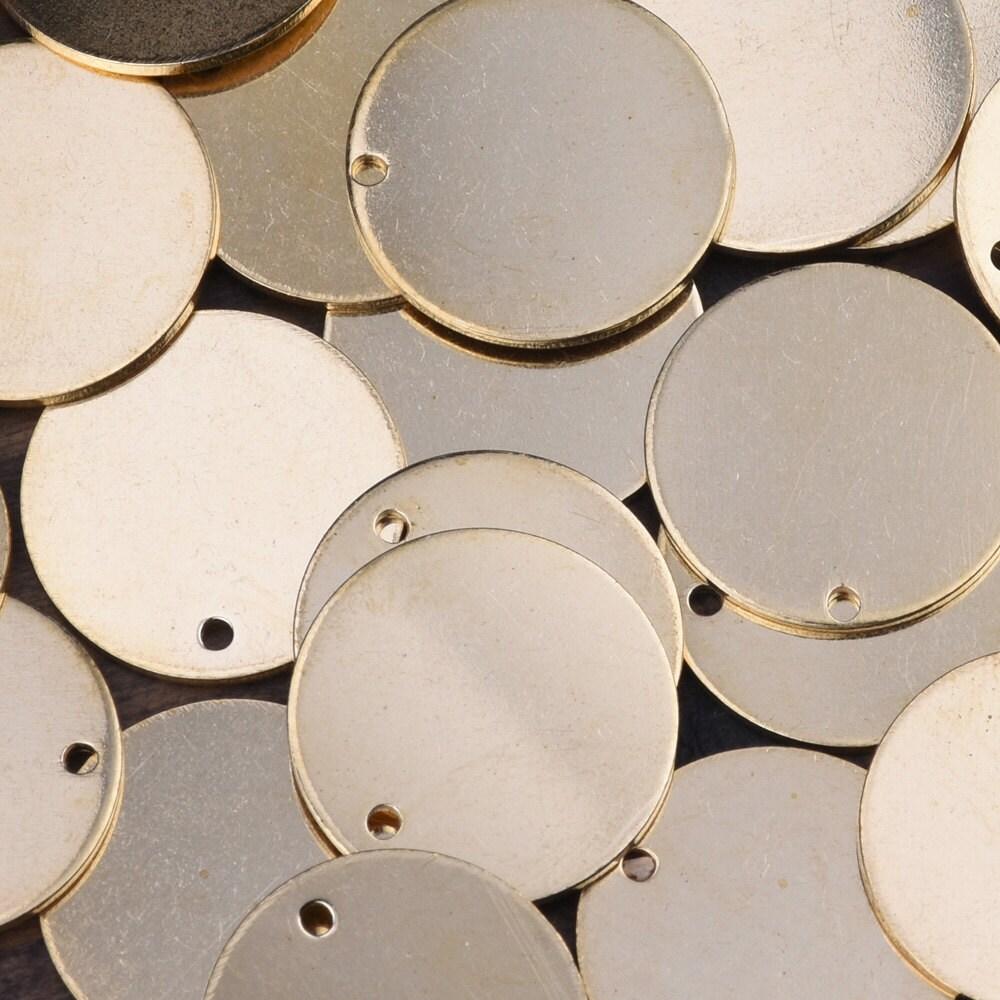 50 Brass Sheet Metal Stamping Blanks Round Circle Disc Shape