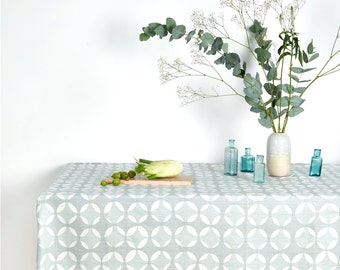 Screen printed table cloth - Pale Crosses