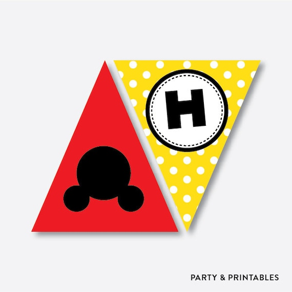 Mickey Mouse Birthday Banner Printable