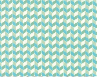 Bumble Berries Basket Weave Light Green Fabric - The Jungs - Moda - by the half yard - 100% Cotton-blue, green