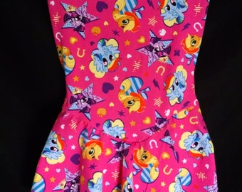 ABDL/Little dress up ballerina skirted onesie made with My little pony pink