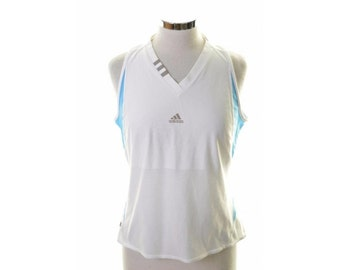 Adidas Womens T-Shirt Sleeveless Size 16 Large White