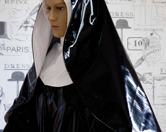 Nun Costume - Hand Crafted to Any Size - Shown Here in PVC but other fabrics can be requested