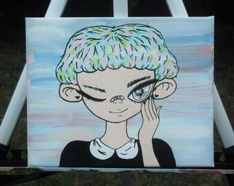 Dreamy acrylic painting on canvas