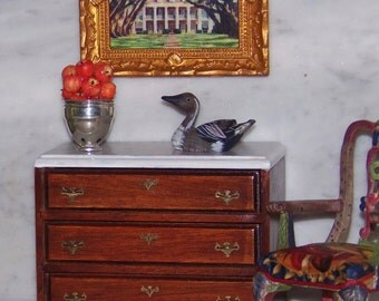 Vintage Duck for 1:12th Dollhouse.  Decor for Den. FREE SHIPPING!