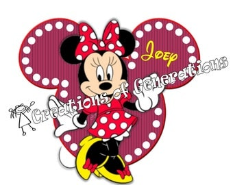 Disney Cruise Magnet for Door Decoration~ Minnie Mouse