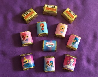 Shimmer and Shine Hershey's Nuggets Wrappers / labels, Party Favors